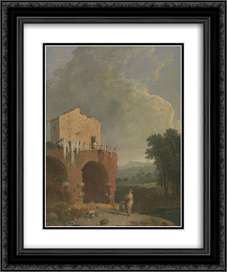 Hadrian's Villa 20x24 Black or Gold Ornate Framed and Double Matted Art Print by Richard Wilson