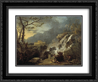 Meleager and Atalanta 24x20 Black or Gold Ornate Framed and Double Matted Art Print by Richard Wilson