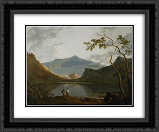Snowdon from Llyn Nantlle 24x20 Black or Gold Ornate Framed and Double Matted Art Print by Richard Wilson