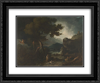The Destruction of Niobe's Children 24x20 Black or Gold Ornate Framed and Double Matted Art Print by Richard Wilson