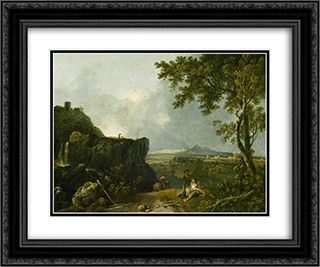 The White Monk 24x20 Black or Gold Ornate Framed and Double Matted Art Print by Richard Wilson