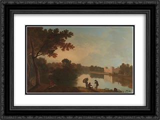 Wilton House from the Southeast 24x18 Black or Gold Ornate Framed and Double Matted Art Print by Richard Wilson