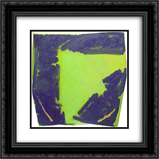Broken Circle 20x20 Black or Gold Ornate Framed and Double Matted Art Print by Richards Ruben