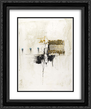 Drawing with Blue 20x24 Black or Gold Ornate Framed and Double Matted Art Print by Richards Ruben