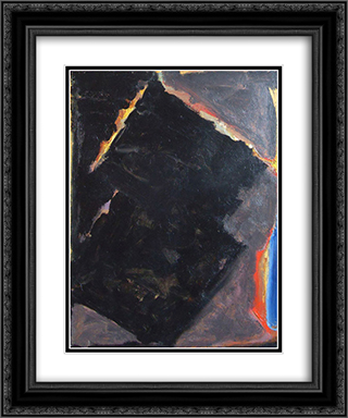 Light in Dark 20x24 Black or Gold Ornate Framed and Double Matted Art Print by Richards Ruben