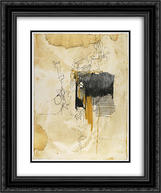 Untitled 20x24 Black or Gold Ornate Framed and Double Matted Art Print by Richards Ruben