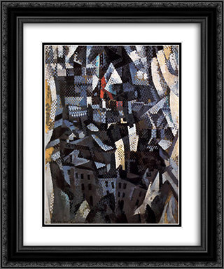 Ciudades. City 20x24 Black or Gold Ornate Framed and Double Matted Art Print by Robert Delaunay