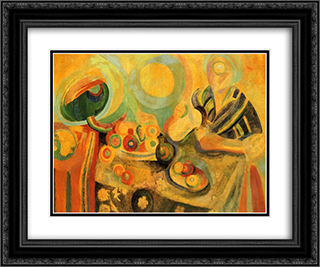 Poring 24x20 Black or Gold Ornate Framed and Double Matted Art Print by Robert Delaunay