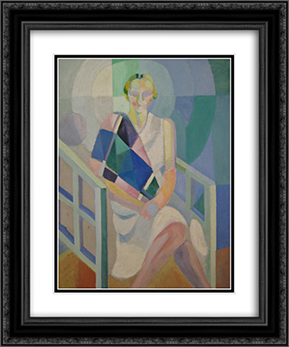 Portrait of Madame Heim 20x24 Black or Gold Ornate Framed and Double Matted Art Print by Robert Delaunay