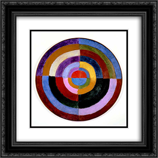 Premier Disque 20x20 Black or Gold Ornate Framed and Double Matted Art Print by Robert Delaunay