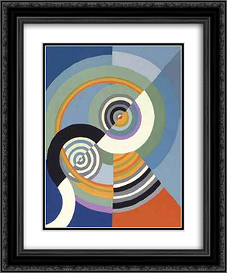 Rhythm 20x24 Black or Gold Ornate Framed and Double Matted Art Print by Robert Delaunay