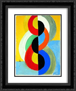 Rhythm Color 20x24 Black or Gold Ornate Framed and Double Matted Art Print by Robert Delaunay