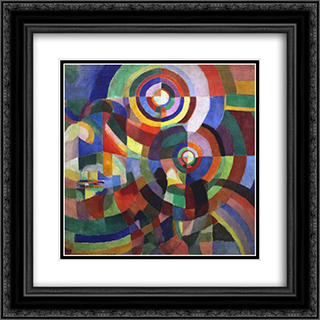 Rythm 20x20 Black or Gold Ornate Framed and Double Matted Art Print by Robert Delaunay