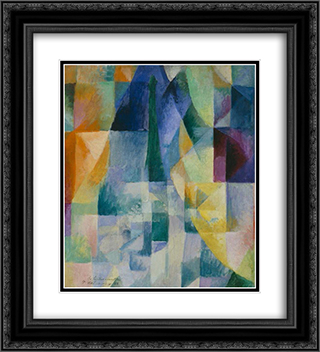 Simultaneous Windows (2nd Motif, 1st Part) 20x22 Black or Gold Ornate Framed and Double Matted Art Print by Robert Delaunay