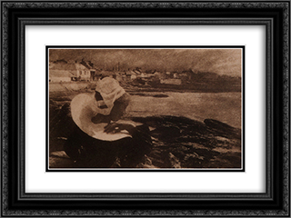In Brittany 24x18 Black or Gold Ornate Framed and Double Matted Art Print by Robert Demachy