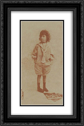 Jack, 8 Years Old 16x24 Black or Gold Ornate Framed and Double Matted Art Print by Robert Demachy