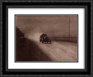 Speed 24x20 Black or Gold Ornate Framed and Double Matted Art Print by Robert Demachy