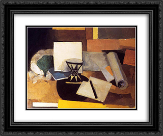 Diabolo 24x20 Black or Gold Ornate Framed and Double Matted Art Print by Roger de La Fresnaye