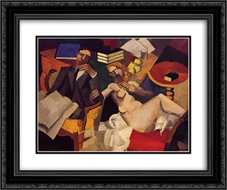 Married Life 24x20 Black or Gold Ornate Framed and Double Matted Art Print by Roger de La Fresnaye