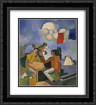 The Conquest of the Air 20x22 Black or Gold Ornate Framed and Double Matted Art Print by Roger de La Fresnaye