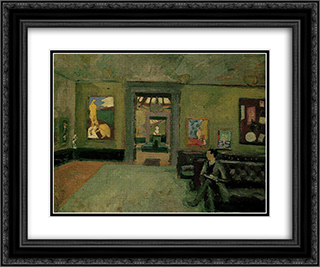 A Room (in the Second Post-Impressionist) 24x20 Black or Gold Ornate Framed and Double Matted Art Print by Roger Fry