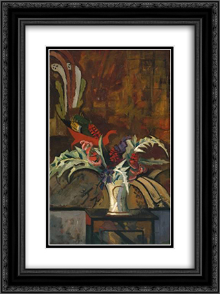 Flowers 18x24 Black or Gold Ornate Framed and Double Matted Art Print by Roger Fry