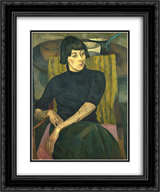 Nina Hamnett 20x24 Black or Gold Ornate Framed and Double Matted Art Print by Roger Fry