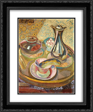 Still Life with Coffee Pot 20x24 Black or Gold Ornate Framed and Double Matted Art Print by Roger Fry