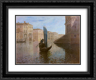 Venice 24x20 Black or Gold Ornate Framed and Double Matted Art Print by Roger Fry