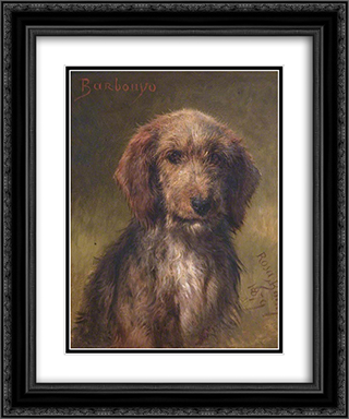 Barbouyo 20x24 Black Ornate Framed and Double Matted Art Print by Rosa Bonheur