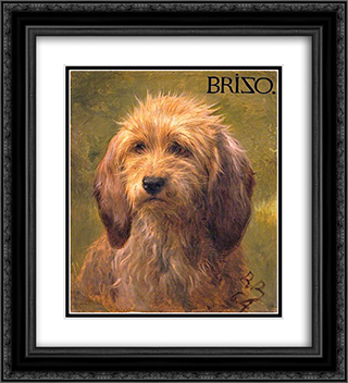 Brizo, a Shepherd's Dog 20x22 Black Ornate Framed and Double Matted Art Print by Rosa Bonheur