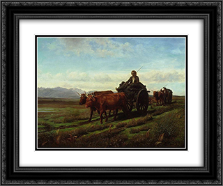 Going to Market 24x20 Black or Gold Ornate Framed and Double Matted Art Print by Rosa Bonheur