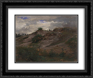 Landscape 24x20 Black or Gold Ornate Framed and Double Matted Art Print by Rosa Bonheur