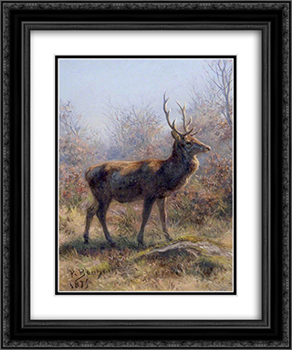 The Stag 20x24 Black or Gold Ornate Framed and Double Matted Art Print by Rosa Bonheur