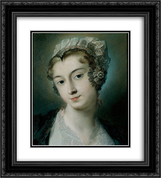 A Tyrolean Innkeeper 20x22 Black or Gold Ornate Framed and Double Matted Art Print by Rosalba Carriera