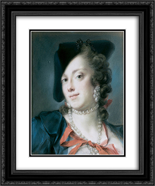 A Venetian Lady from the House of Barbarigo (Caterina Sagredo Barbarigo) 20x24 Black or Gold Ornate Framed and Double Matted Art Print by Rosalba Carriera