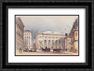 Lower Austrian country house in Vienna Viewed from Minoritenplatz 24x18 Black or Gold Ornate Framed and Double Matted Art Print by Rudolf von Alt