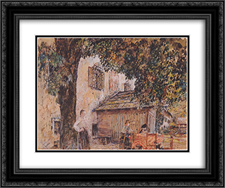 Motif from Goisern 24x20 Black or Gold Ornate Framed and Double Matted Art Print by Rudolf von Alt