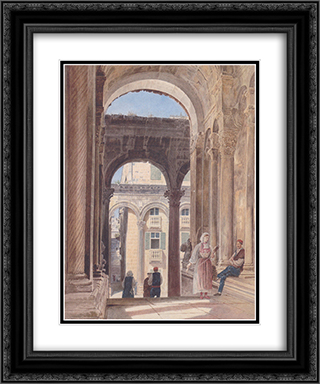 Ruins of Diocletian at Spalato 20x24 Black or Gold Ornate Framed and Double Matted Art Print by Rudolf von Alt