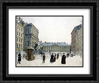 Schwarzenberg Palace 24x20 Black or Gold Ornate Framed and Double Matted Art Print by Rudolf von Alt