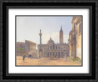 The Basilica of Santa Maria Maggiore in Rome 24x20 Black or Gold Ornate Framed and Double Matted Art Print by Rudolf von Alt