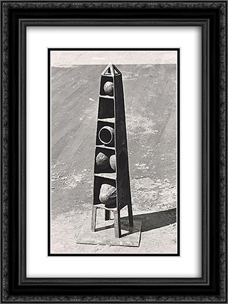 Obelisk 18x24 Black or Gold Ornate Framed and Double Matted Art Print by Ruth Vollmer