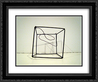 Wire Cage Soap Film Form 24x20 Black or Gold Ornate Framed and Double Matted Art Print by Ruth Vollmer