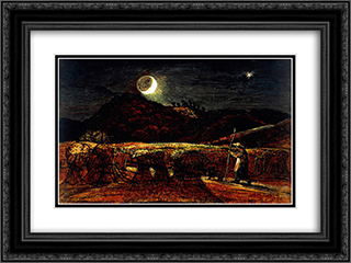 A Cornfield by Moonlight with the Evening Star 24x18 Black or Gold Ornate Framed and Double Matted Art Print by Samuel Palmer