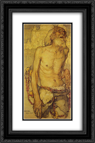 El Ciego 16x24 Black or Gold Ornate Framed and Double Matted Art Print by Saturnino Herran