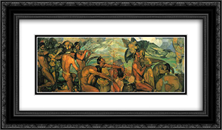 Nuestros dioses 24x14 Black or Gold Ornate Framed and Double Matted Art Print by Saturnino Herran