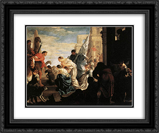 A Scene from Roman History 24x20 Black or Gold Ornate Framed and Double Matted Art Print by Sebastien Bourdon