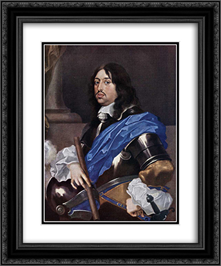 King Charles X Gustav of Sweden 20x24 Black or Gold Ornate Framed and Double Matted Art Print by Sebastien Bourdon