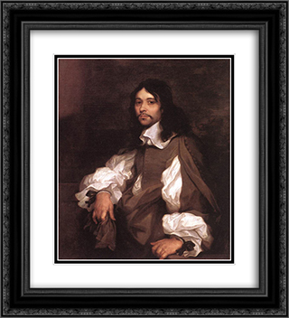 Portrait of a Man 20x22 Black or Gold Ornate Framed and Double Matted Art Print by Sebastien Bourdon