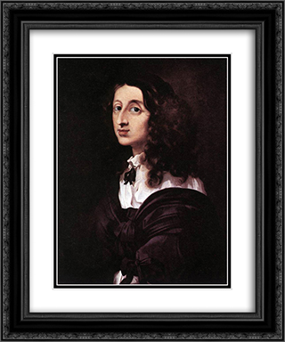 Queen Christina of Sweden 20x24 Black or Gold Ornate Framed and Double Matted Art Print by Sebastien Bourdon